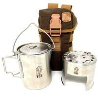 TBS Wilderness Bottle Cook Kit with Helikon Bottle Bag